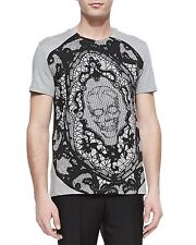 ALEXANDER MCQUEEN BLOWN UP LACE SKULL PRINT SHIRT MADE IN ITALY SIZE MEDIUM