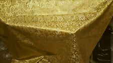 Or 1m couleur metallic brocade/jacquard tissu large 58""