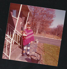 Vintage Photograph Young Boy / Man Wearing Cool Halloween Costume