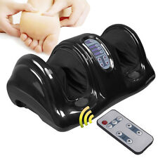 Shiatsu Foot Massager Kneading and Rolling Leg Calf Ankle w/Remote Black New