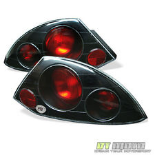 Black 00-02 Mitsubishi Eclipse Tail Lights Lamps Left+Right Pair Set Aftermarket