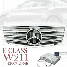 Full Chrome Front Mesh Grille Sport AMG for Mercedes Benz E Class W211 2007-08