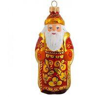 Khokhloma Santa Claus Christmas Ornament, Elochnaya Igrushka