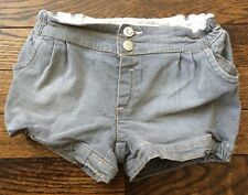 TODDLER GIRLS – GREY DENIM JEAN FASHION SHORTS - TU - AGED 2-3 YEARS