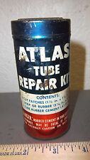 vintage ATLAS tube repair kit metal tin great graphics & colors nice collectible
