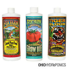 Fox Farm HydroTrio Nutrients Bundle, Big Bloom, Grow Big, Tiger Bloom Pint 16oz