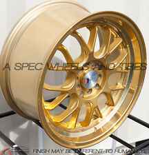 17X8.5 F1R F21 WHEEL 5x100/114.3 +35 GOLD RIM FITS ACURA RSX 2003-2006 SCION TC