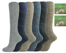 6 Pairs Mens Long Length Thermal Socks Thick Wool Blend Walking Hiking Ski Boot