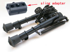 "Tactical 6"" - 9"" Harris Style Bipod Adjustable Legs W/Bipod Sling Mount Adaptor"