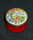 "HALCYON DAYS BATTERSEA ""1999"" ENAMEL BOX NIB"