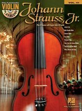 Violin Play-Along Johann Strauss Play Classical Songs Tunes Music Book & CD