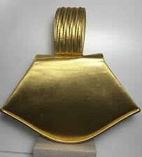 Paloma Picasso Vintage Gold Metallic Handbag Very Late 70s Early 80s