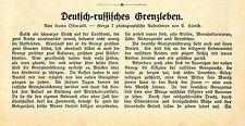 Hans Ostwald Deutsch- russisches Grenzleben Soldaten u. Grenzbeamte Kosaken 1913