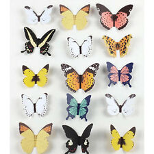 15pcs 3D Butterfly TV Background Wall Stickers Art Design Decal Home DIY Decor