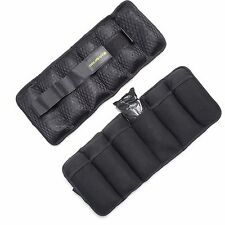 Gold's Gym 10-lb. Pair Adjustable Ankle Wrist Arm Leg Running Weights Exercises