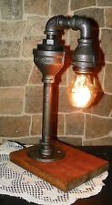 Retro Industrial Vintage Steampunk Waterspout style Lamp with  edison Gem bulb