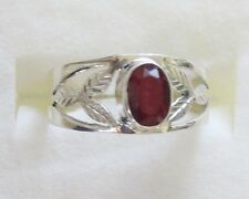 Ruby Ring in 925 Sterling Silver size 6