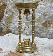 Eieruhr 5 min. Säulen Sanduhr Uhr Messing 14 cm Glasenuhr Kurzzeitmesser Timer
