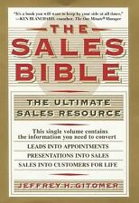 The Sales Bible by Jeffrey H. Gitomer (1994, Hardcover) Very Good Free Shipping