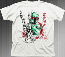 Boba Fett Bounty Hunter star wars clone jedi qualité 9871 T-shirt en coton