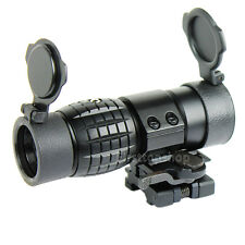 Quick Detachable Tactical 3X FTS Magnifier Scope & Flip to Side Mount 20mm Rail