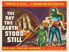 """The Day the earth stood still 16"""" x 12"""" Reproduction Movie Poster Photograph 2"""
