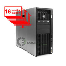 HP Z800 Multi Screen 16-Monitor Desktop 8-Core/1TB + 256GB SSD/ NVS 420/ Win10