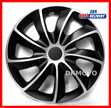 "4x15"" Wheel trims for RENAULT KANGOO SCENIC CLIO MEGANE full set black-silver"