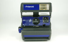 Polaroid 636 blue instant camera getested tested dlmtn