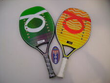 LOTTO COPPIA RACCHETTE BEACH TENNIS RACKET TOM CARUSO BURN E HAMMER IDEA REGALO