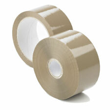 48mm x 150m Manuli Long Brown Parcel Sealing Packing Tape Cellotape Qty 6 Rolls