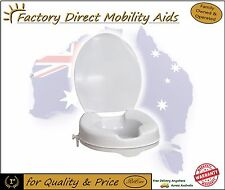 """Raised Toilet Seat  2"""" 50mm With Lid easy clip on Top Quality / Direct Importer"""