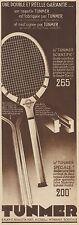 Y8436 Raquette TUNMER - Pubblicità d'epoca - 1934 Old advertising
