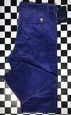 Stefano Ricci Men's Corduroy Pants Purple Classic Cut Modern Fit Size 34