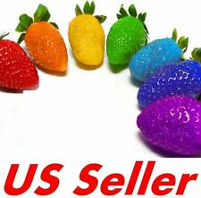 50 PCS Colorful Rainbow Strawberry Plant Seeds E46 Grow Your Own Fruit US Seller