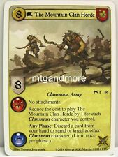 A Game of Thrones LCG - 1x The Mountain Clan Horde  #066 - A Time for Wolves