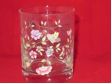 Johnson Bros Summer Chintz Double Old Fashioned Glass (s) Floral Flowers England