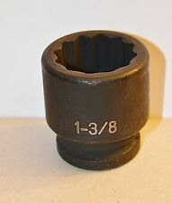 "1-3/8 inch Std 3/4"" Drive Impact Grey Pneumatic Socket 12 Point Free Shipping"