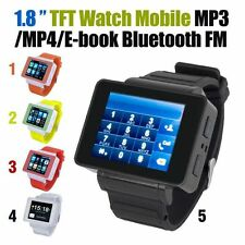 "Unlocked 1.8"" LCD Touch Screen Mobile Phone Smart Watch GSM MP3/4 Bluetooth FM"