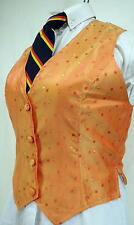 Reed Hill Saddleseat Vest Ladies Orange Cube Shimmer 24 - Made in USA