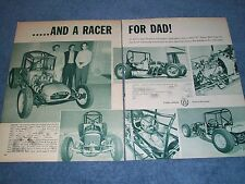 """1962 Vintage Sprint Car Article """"...And A Racer For Dad"""""""