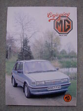 Enjoying MG (March 1999) MG Magnette, MGB Seat Covering, MGF Door Sound Proofing