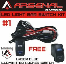 #1 Heavy Duty Wire Harness Kit LED Light Bars Rocker Switch 17FT of 14G Wiring