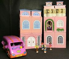 Polly Pocket Mini �� 1999 Stapelhaus Deluxe Mansion - Dream Builders nursery Bus