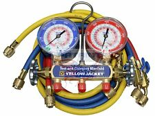 "YELLOW JACKET 42201 MANIFOLD 3-1/8"" GAUGES 60"" HOSE PSI R22/404A/410A, °F"