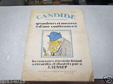 CANDIDE NUMERO HUMORISTIQUE 1930 SENNEP ARISTIDE BRIANT CANDIDE revue *