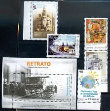 URUGUAY LOT 5 STAMPS + Block Year 2013 Complete Sets MNH