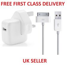 Genuine Apple USB Mains Charger Charging Power Adapter Cable For iPhone 3G 4G 4S