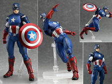 Marvel The Avengers Super Heroes Figma Captain America Action Figure 15cm NO BOX