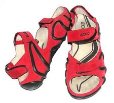 ECCO~SOFT SUEDE *SPARK* SPORTS~HIKING~TRAIL~TRAVEL~VELCRO SANDALS~38 (RARE)